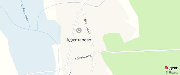 Верхняя улица на карте деревни Аджитарово с номерами домов