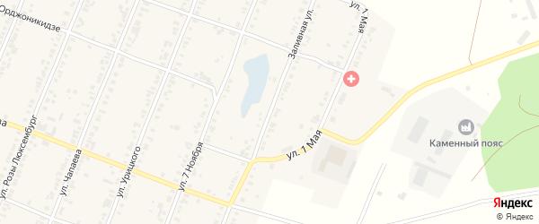 Заливная улица на карте Касли с номерами домов