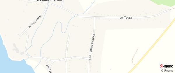Советская улица на карте поселка Воздвиженки с номерами домов