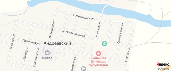Советская улица на карте Андреевского поселка с номерами домов