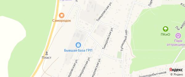 Тимуровская улица на карте Пласта с номерами домов