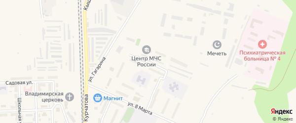 Южно-Уральская улица на карте Новогорного поселка с номерами домов