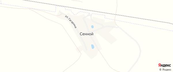 Карта Сенного поселка в Челябинской области с улицами и номерами домов