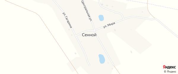 Улица Казарма 14 км на карте Сенного поселка с номерами домов