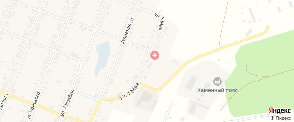 1 Мая улица на карте Касли с номерами домов