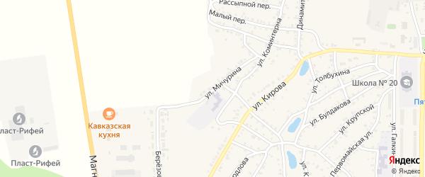 Улица Мичурина на карте Пласта с номерами домов