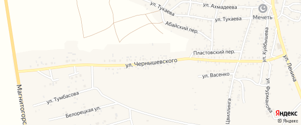 Улица Чернышевского на карте Пласта с номерами домов