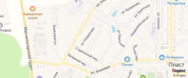 Аверьяновский переулок на карте Пласта с номерами домов