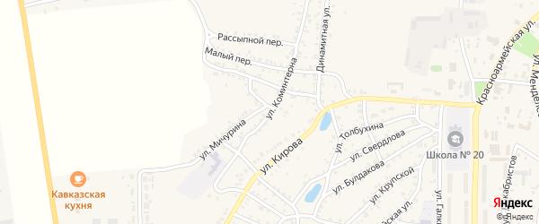 Улица Коминтерна на карте Пласта с номерами домов