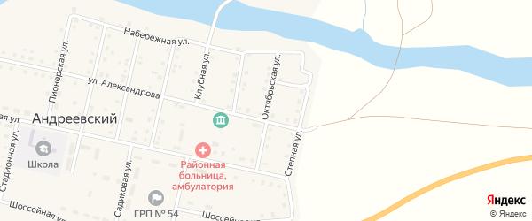 Октябрьская улица на карте Андреевского поселка с номерами домов