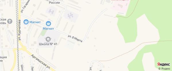 Улица Строителей на карте Новогорного поселка с номерами домов