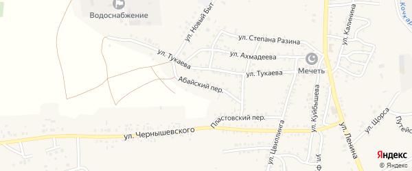 Абайский переулок на карте Пласта с номерами домов