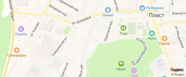 Тупиковый переулок на карте Пласта с номерами домов