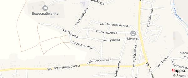 Улица Тукаева на карте Пласта с номерами домов