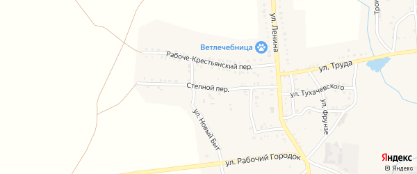 Степной переулок на карте Пласта с номерами домов