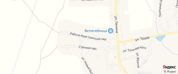 Рабоче-Крестьянский переулок на карте Пласта с номерами домов