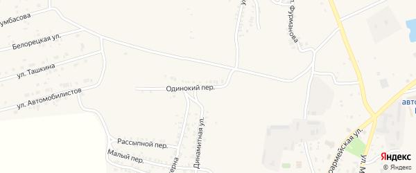 Одинокий переулок на карте Пласта с номерами домов