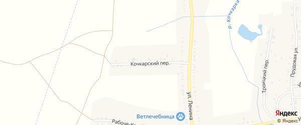Кочкарский переулок на карте Пласта с номерами домов