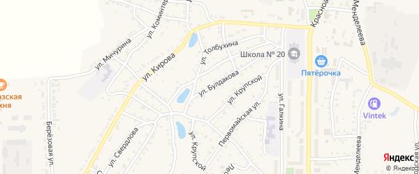 Улица Булдакова на карте Пласта с номерами домов