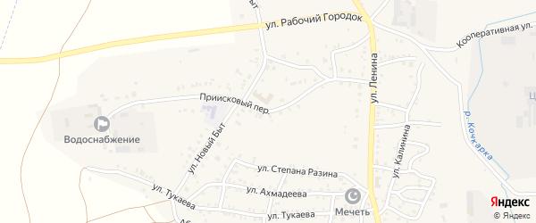 Приисковый переулок на карте Пласта с номерами домов