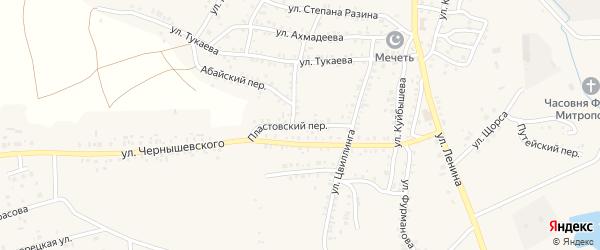 Пластовский переулок на карте Пласта с номерами домов