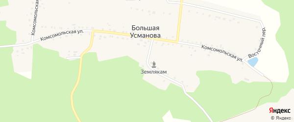 Пионерская улица на карте деревни Большая Усманова с номерами домов