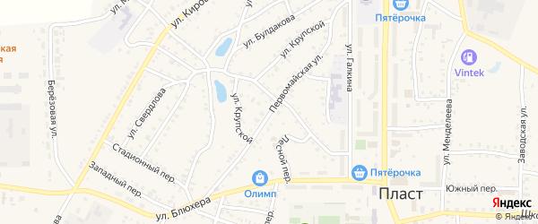 Первомайская улица на карте Пласта с номерами домов