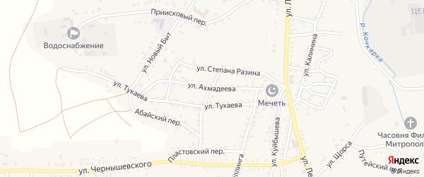 Улица Ахмадеева на карте Пласта с номерами домов