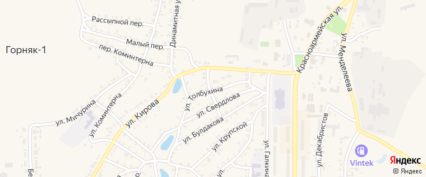 Улица Толбухина на карте Пласта с номерами домов