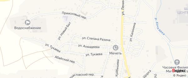 Улица Степана Разина на карте Пласта с номерами домов