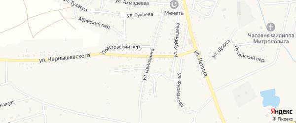 Улица Цвиллинга на карте Пласта с номерами домов