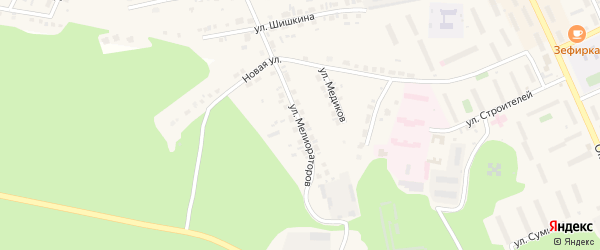 Улица Мелиораторов на карте Пласта с номерами домов