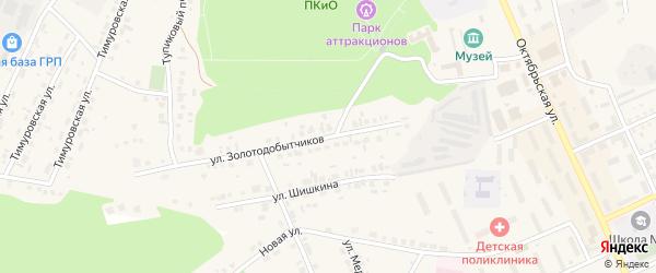 Улица Золотодобытчиков на карте Пласта с номерами домов