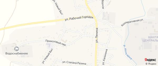 Нарымовский переулок на карте Пласта с номерами домов