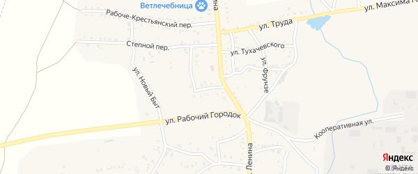 Ленинградский переулок на карте Пласта с номерами домов