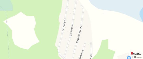 Зеленая улица на карте железнодорожной станции Маук с номерами домов