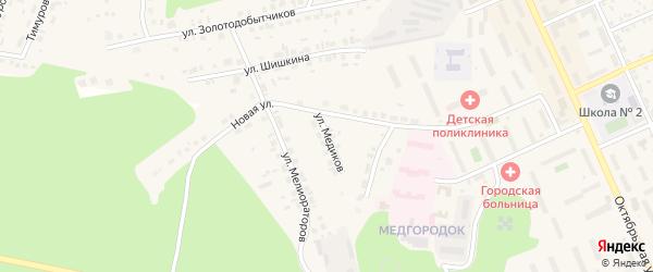 Улица Медиков на карте Пласта с номерами домов
