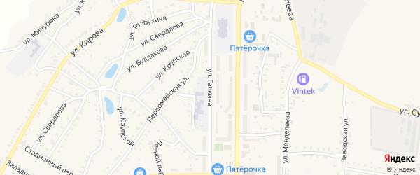 Улица Галкина на карте Пласта с номерами домов
