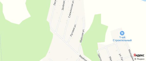Луговая улица на карте Воскресенского села с номерами домов