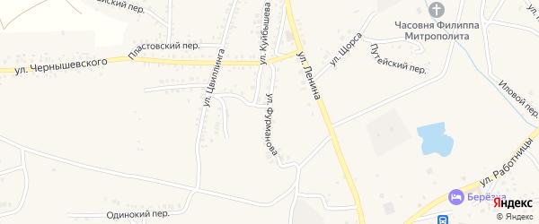 Улица Фурманова на карте Пласта с номерами домов