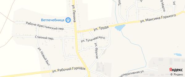 Улица Тухачевского на карте Пласта с номерами домов