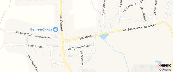 Улица Труда на карте Пласта с номерами домов