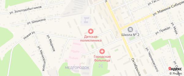 Улица Строителей на карте Пласта с номерами домов