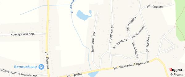 Троицкий переулок на карте Пласта с номерами домов