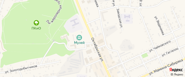 Октябрьская улица на карте Пласта с номерами домов