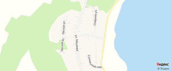 Приозерный переулок на карте деревни Курманова с номерами домов