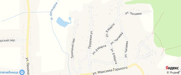 Прудовая улица на карте Пласта с номерами домов