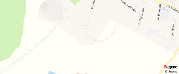 Багинская улица на карте Пласта с номерами домов