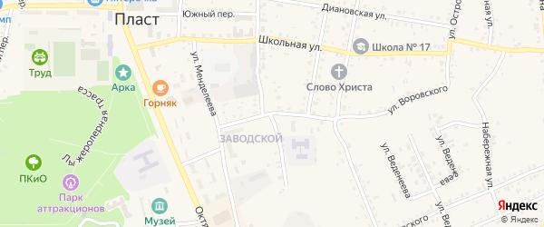 Благовещенский переулок на карте Пласта с номерами домов