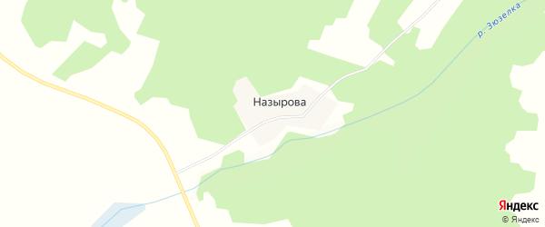 Карта деревни Назырова в Челябинской области с улицами и номерами домов